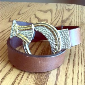 Chico's Leather Belt ML brown